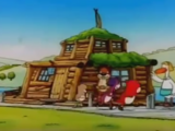 The Beaver Family Stick House