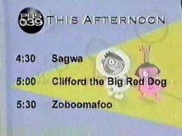 PBS Kids Walking Afternoon Schedule (WFWA, 2001)