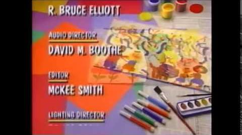 Barney and Friends first generation closing credits with The Simpsons closing theme song