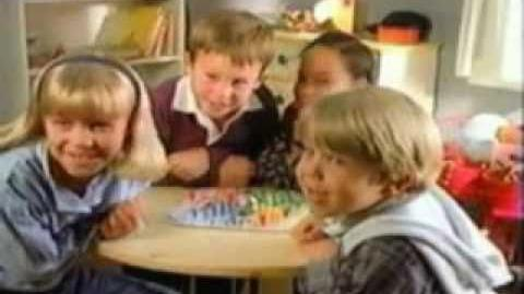 Milton Bradley Games commercials used in Corduroy (TV Series) by Nelvana