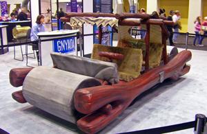 Flintstones car model at 2008 NY Auto Show