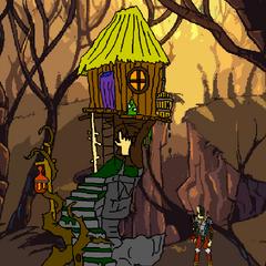 Zoovac's Hut exterior.