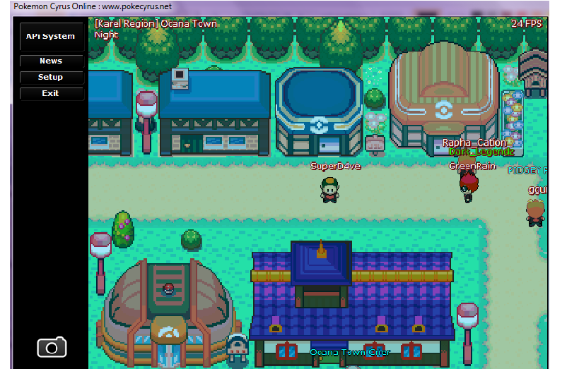 Player In Front Of Pokemon Mart And Beside Center Ocana Town