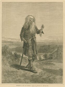 Jefferson as Rip Van Winkle 1871