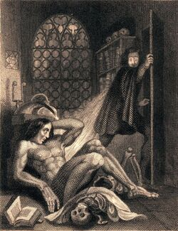 Frontispiece to Frankenstein 1831