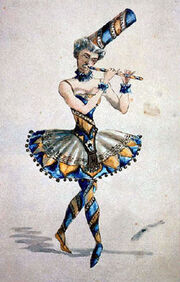 Vzevolozhsky s costume sketch for Nutcracker