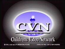 The first CVN logo used in the first two volumes of the Chuckle Toons series