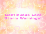 Continuouslovestormwarnings
