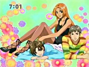 Momo anime with Kairi and Toji