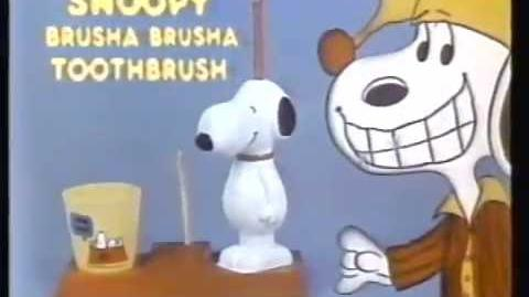 Hasbro Snoopy Brusha Brusha Toothbrush 1982 Commercial