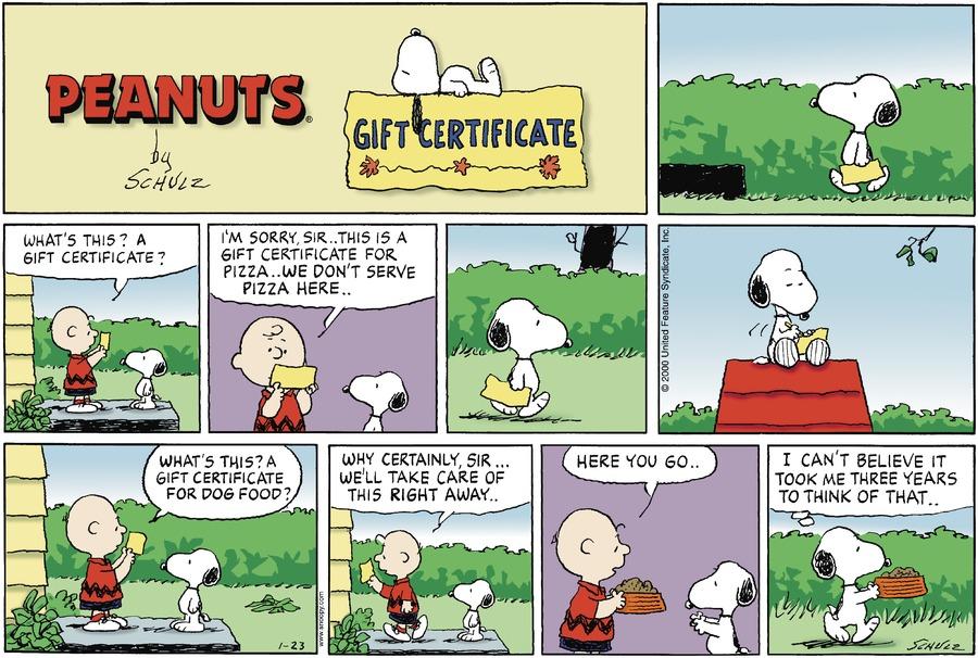 Peanuts the last comic strip