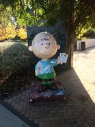 Charles M. Schulz Museum Charlie Brown statue front 02