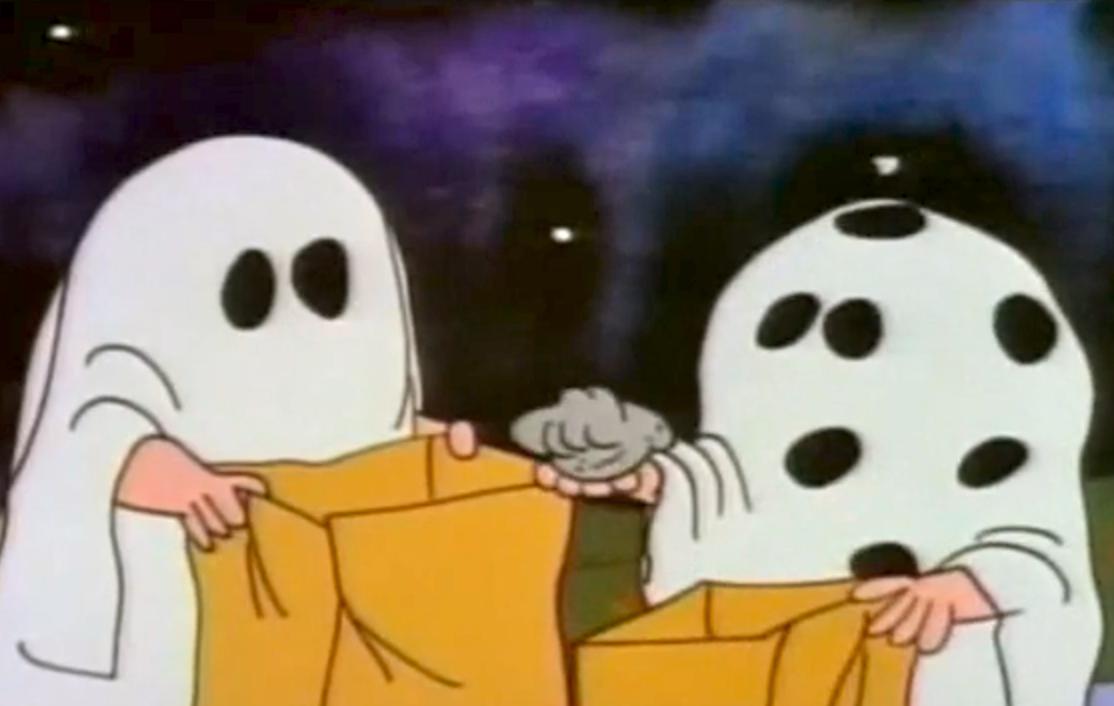 i got a rock charlie brown halloween