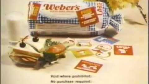 1980 Weber's Bread Snoopy For President Sweepstakes Commercial