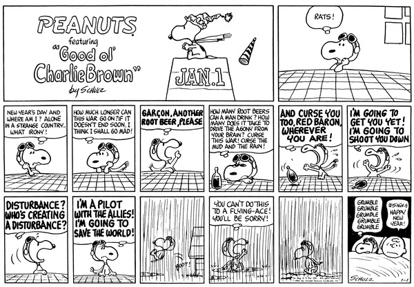 Who wrote the comic strip peanuts