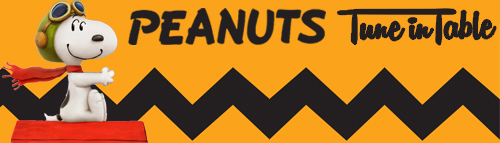 Peanuts Tune in Table