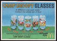 Camp snoopy glasses ad