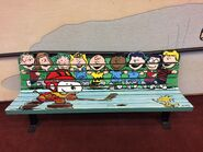 Peanuts Gang bench