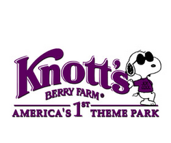 Knott's berry farm logo with snoopy