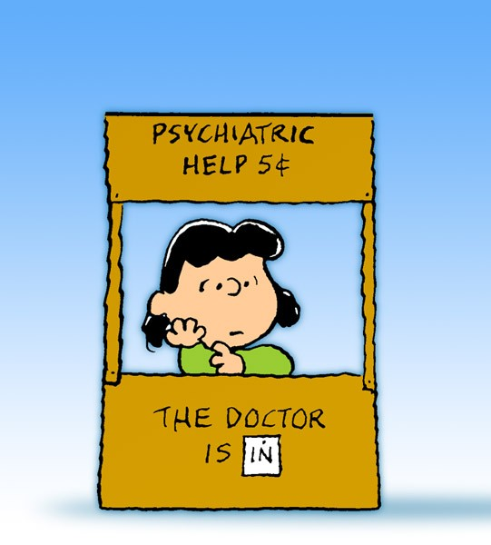 Image result for copyright free images peanuts lucy psychiatrist