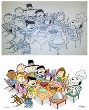 A Charlie Brown Thanksgiving storyboard