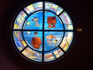 Snoopy stained glass