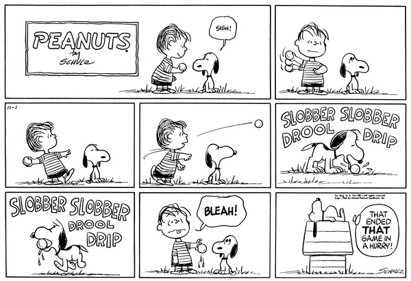 Comic history peanut strip