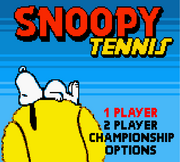 Snoopy Tennis Menu