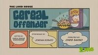 Cereal Offender Title Card