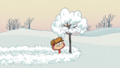 Lincoln imitating the Charlie Brown Christmas title card.png