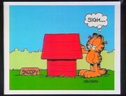 Garfield at Snoopy's doghouse tribute image