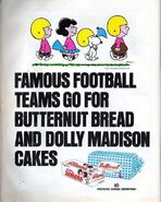 Peanuts football ad butternut bread dolly madison