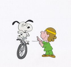 PollySnoopyUnicycle