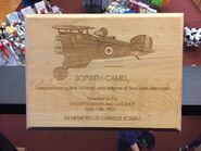 World War I Flying Ace plaque