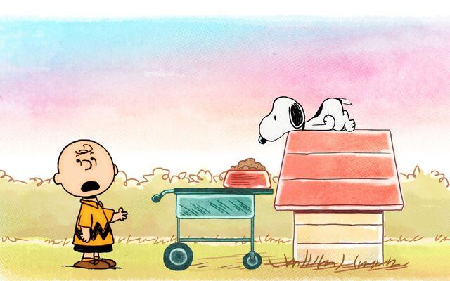File:Charlie Brown serving Snoopy.jpg