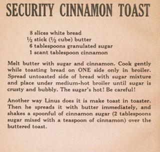 Security Cinnamon Toast