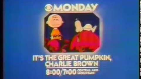 It's the great pumkin charlie brown - CBS tv spot
