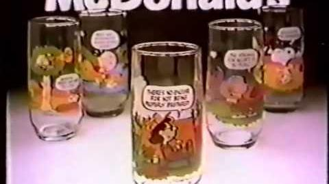 McDonald's Snoopy Glasses commercial 1983