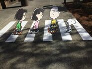 Peanuts Gang on Abbey Road