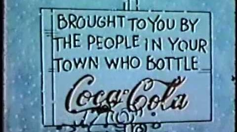 A Charlie Brown Christmas 1965 Coke sponsor open in color