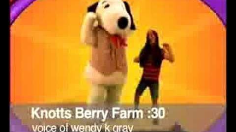Knott's Berry Farm Voice of Wendy K Gray