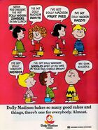 Peanuts gang dolly madison ad