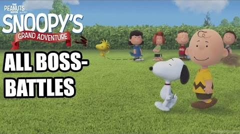 The Peanuts Movie - Snoopy's Grand Adventure - All Bosses ( No Damage ) - All Boss Battles - HD -