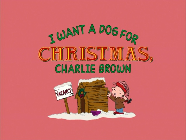 I Want a Dog for Christmas, Charlie Brown | Peanuts Wiki | FANDOM ...