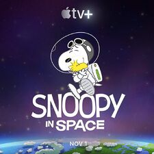 Snoopy in Space Poster
