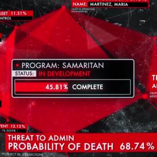 La Máquina calcula las probabilidades de amenaza si Samaritan se completa. <span style=