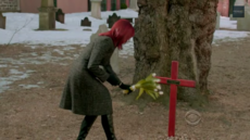 Grace at Harold's Funeral