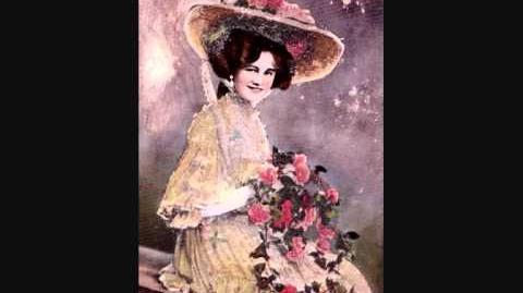 """Gaiety star Gertie Millar sings """"Moonstruck"""" from Our Miss Gibbs recorded 1910"""