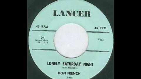 Don French - Lonely Saturday Night