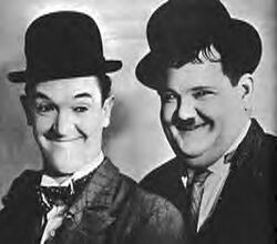 Laurel and Hardy portrait